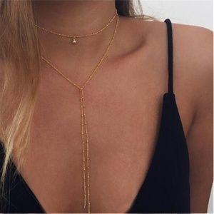 Jewelry - Gold Minimalist Lariat Choker Necklace